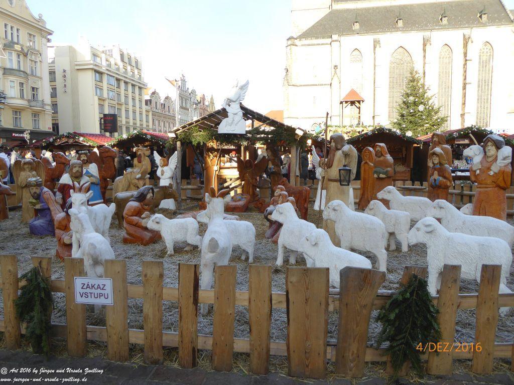 Weihnachtsmarkt in Pilsen in Tschechien