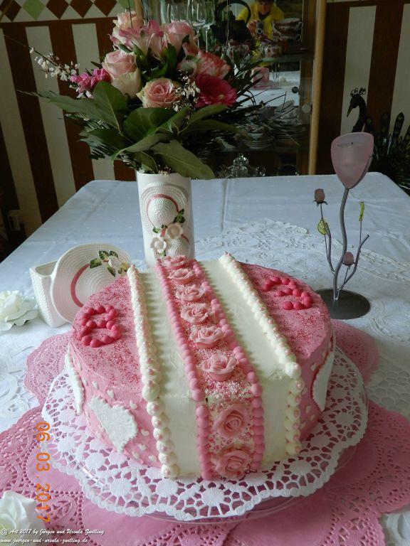 Ursula's Käsesahnetorte mit Mandarine zu Oma's 83zigstem Geburtstag - Oma's Lieblingstorte