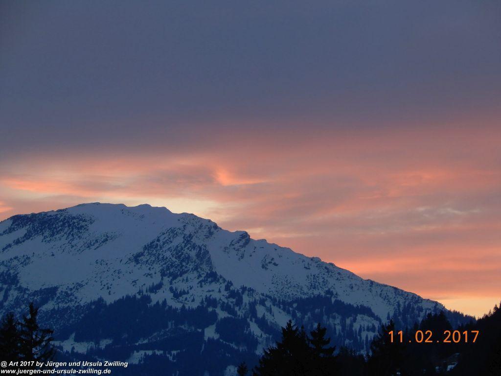 Sonnenuntergang im Tannheimer Tal - Österreich