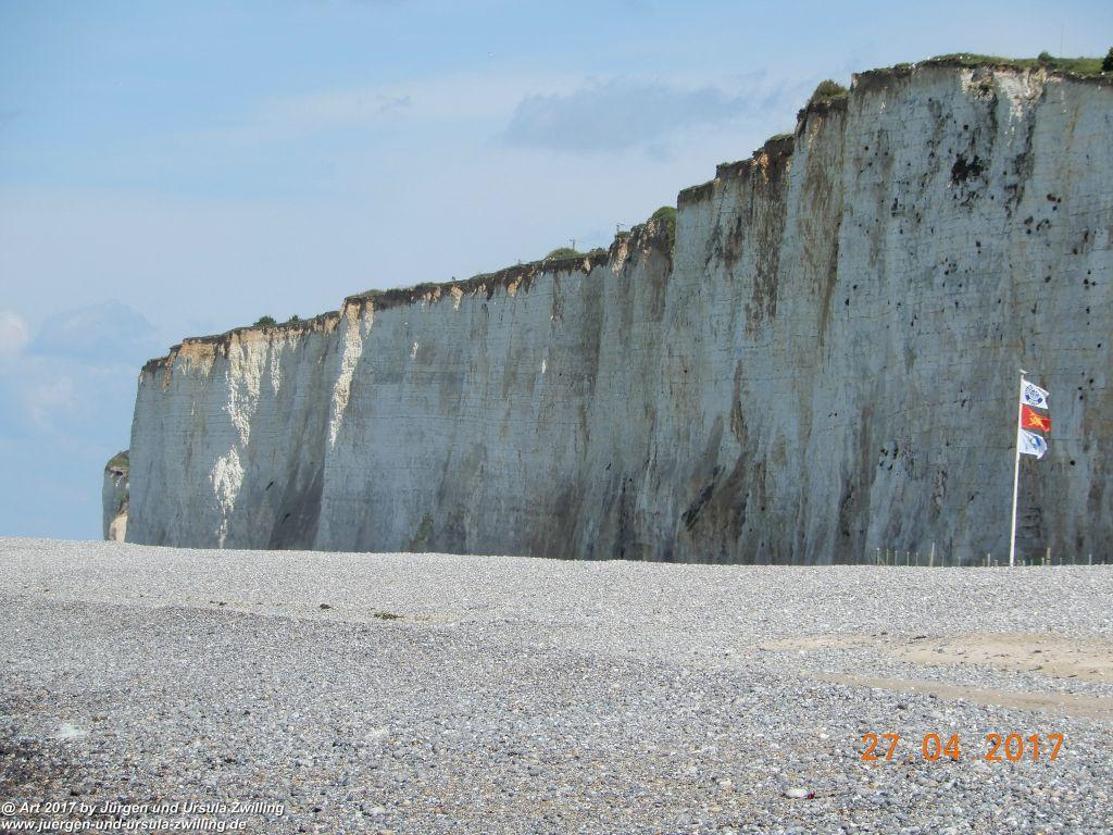 Philosophische Bildwanderung Die Felsen von Le Tréport und der Strand von Criel - Normandie - Frankreich
