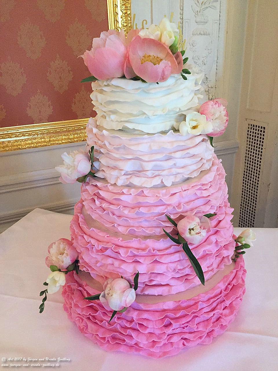 Ursula's 5 stöckige Hochzeitstorte