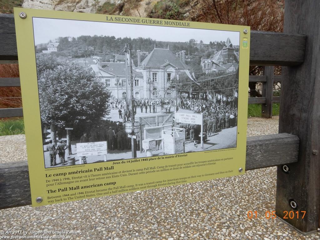 Philosophische Bildwanderung Porte d' Amont mit Fonds d'Étigue (Etretat II) - Normandie - Frankreich