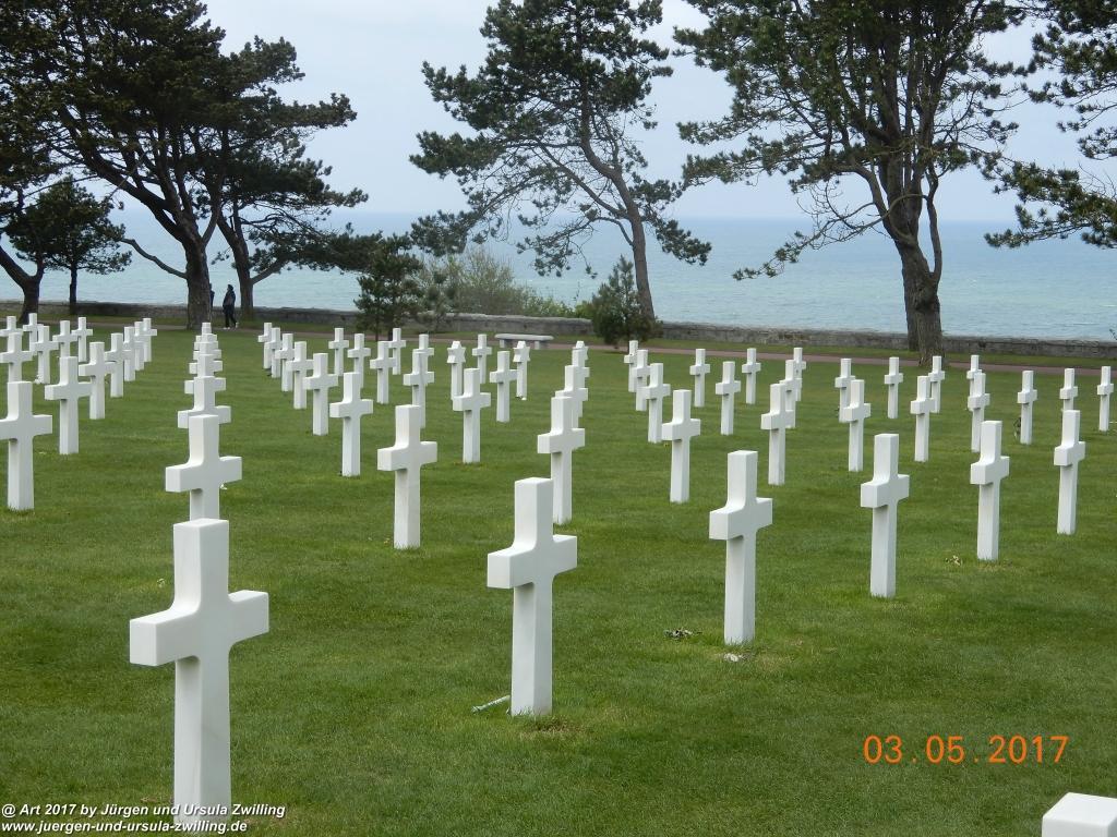 Colleville-sur-Mer und Omaha Beach  - Normandie - Frankreich (nie wieder Krieg)