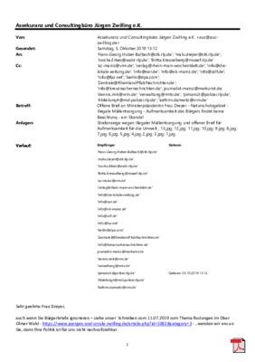 Offener Brief an Ministerpräsidentin Frau Dreyer - Naturschutzgebiet - illegale Müllentsorgung - Aufmerksamkeit des Bürgers findet keine Beachtung - ein Skandal