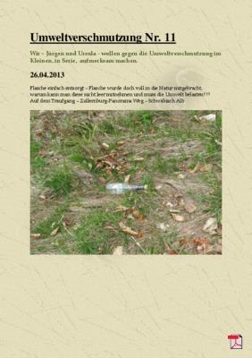 Umweltverschmutzung Nr. 11