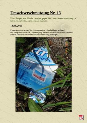 Umweltverschmutzung Nr. 13