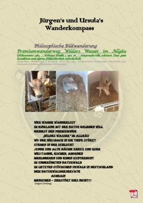 Philosophische Bildwanderung Premiumwanderweg Wildes Wasser im Allgäu