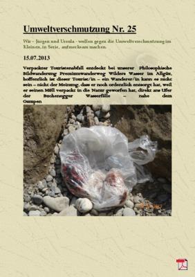 Umweltverschmutzung Nr. 25