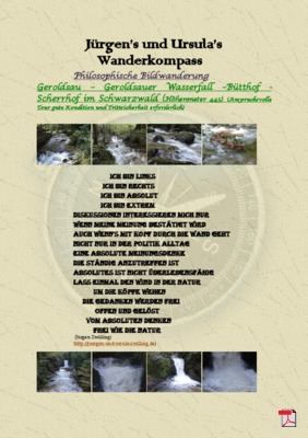 Philosophische Bildwanderung Geroldsau-Geroldsau Wasserfall - Bütthof - Scherrhof