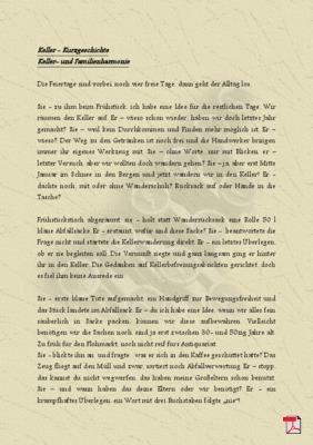 Keller- und Familienharmonie - Kurzgeschichte