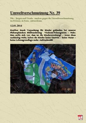 Umweltverschmutzung Nr. 39