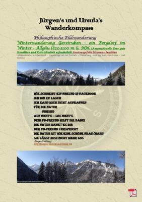Philosophische Bildwanderung - Winterwanderung- Allgaeu Gerstruben - ein Bergdorf im Winter bearbeiten