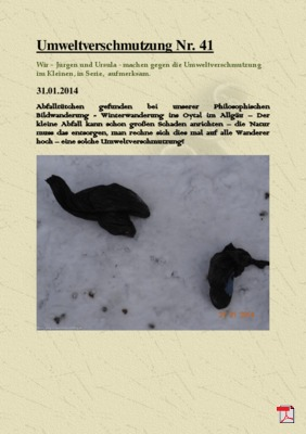 Umweltverschmutzung Nr. 41
