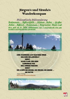 Philosophische Bildwanderung Bodenmais - Rißlochfälle - Kleiner Arber - Großer Arber - Rißloch - Bodenmais