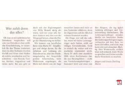 Spätrömische Dekadenz - Leserbrief - Allgemeine Zeitung Mainz