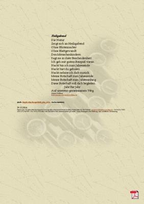 Heiligabend - Gedicht