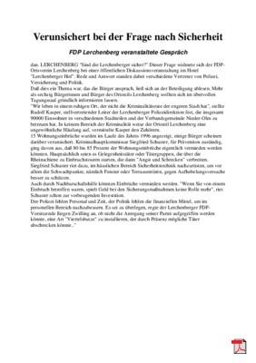 Verunsichert bei der Frage nach Sicherheit - Allgemeine Zeitung Mainz