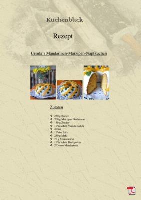 Ursula's Mandarinen-Marzipan-Napfkuchen - Rezept