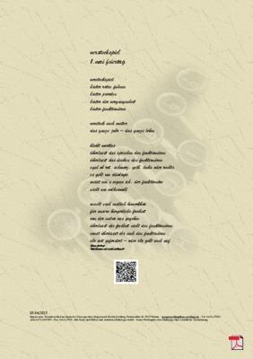 Versteckspiel  1. Mai Feiertag - Gedicht