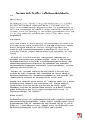 Nachweis fehlte: Schülerin mußte Monatsticket abgeben - Leserbrief - Allgemeine Zeitung Mainz