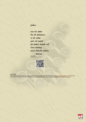 Fakten - Gedicht - Gedanken