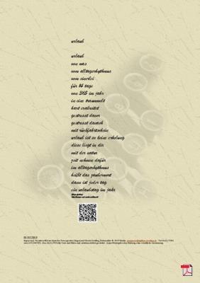 Urlaub -Gedicht - Gedanken