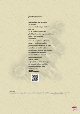 Flüchtingsdrama - Gedicht Gedanken (Flüchtlinge)