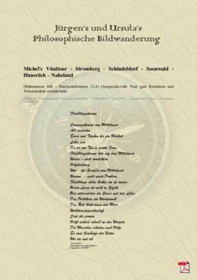 Philosophische Bildwanderung Michel's Vitaltour - Stromberg - Schindeldorf - Soonwald - Hunsrück - Naheland