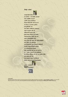 Katze Mimi - Gedicht - Gedanken
