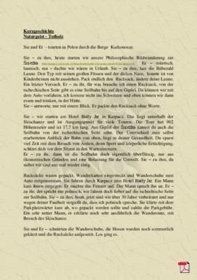 Naturgeist - Totholz - - Kurzgeschichte