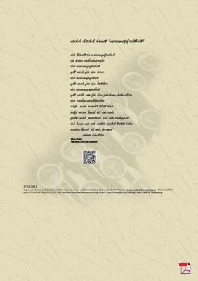 Nickel Dackel Kunst (Meinungsfreitheit) - Gedicht - Gedanken