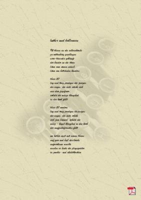 Luther und Halloween (Reformation) - Gedicht - Gedanken