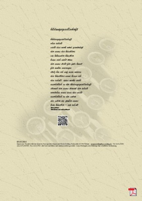 Bildungsgesellschaft - Gedicht - Gedanken
