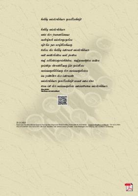 Hobby Wiederkäuer Gesellschaft -Gedicht - Gedanken