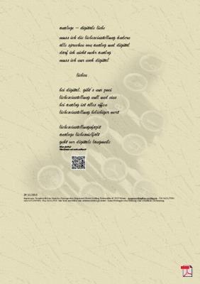 Analoge – Digitale Liebe -Gedicht - Gedanken