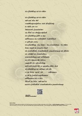Der Flüchtling ist der Täter - Gedicht -Gedanken