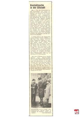 Kontaktschutzmann in Mainz im Gespräch mit meinem Opa -Allgemeine Zeitung Mainz 29.02.1976