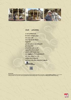 Danke - Geburtstag - Gedicht - Gedanken