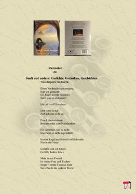 Rezension zu Sanft und anders: Gedichte, Gedanken, Geschichten von Margarete van Marvik