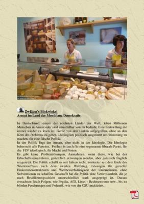 Zwilling's Blickwinkel Armut im Land der Montblanc Demokratie