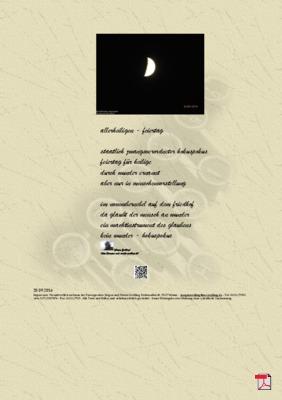 Allerheiligen - Feiertag -Gedichte -Gedanken