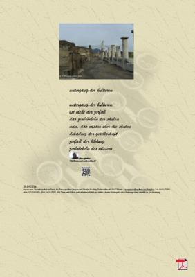 Untergang der Kulturen -Gedichte - Gedanken