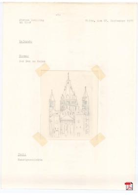 Der Dom zu Mainz - Referat aus der Unterprima (nicht ganz vollständig - aber aus der Zeit, noch mit Schreibmaschine geschrieben, interessant)