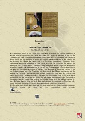 Rezension zu Manche Engel sterben früh von Margarete van Marvik