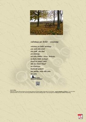 Einladung zur Herbst - Vernissage (Rheinhessen) - Gedichte - Gedanken