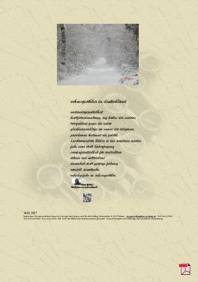 Schneegestöber in Deutschland (Freiheit - Demokratie) Gedichte - Gedanken