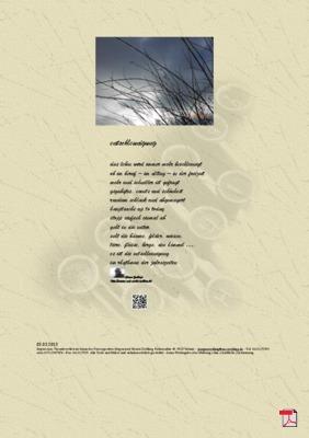 Entschleunigung (Natur) - Gedichte - Gedanken