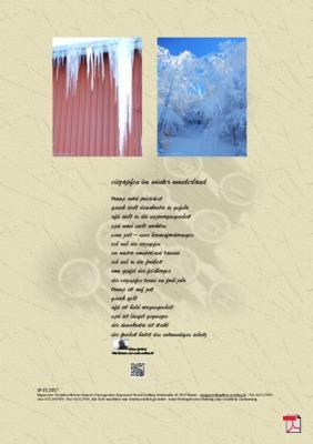 Eiszapfen im Winter Wonderland (Freiheit, Demokratie) Gedichte - Gedanken