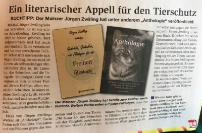 Ein literarische Appell für den Tierschutz - TVMagazin 27.07.2017