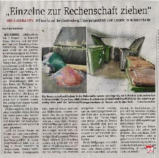 Müllzustände wie in Neapel - Stadt Mainz nimmt Bürger nicht ernst - Allgemeine Zeitung Mainz 17.08.2017
